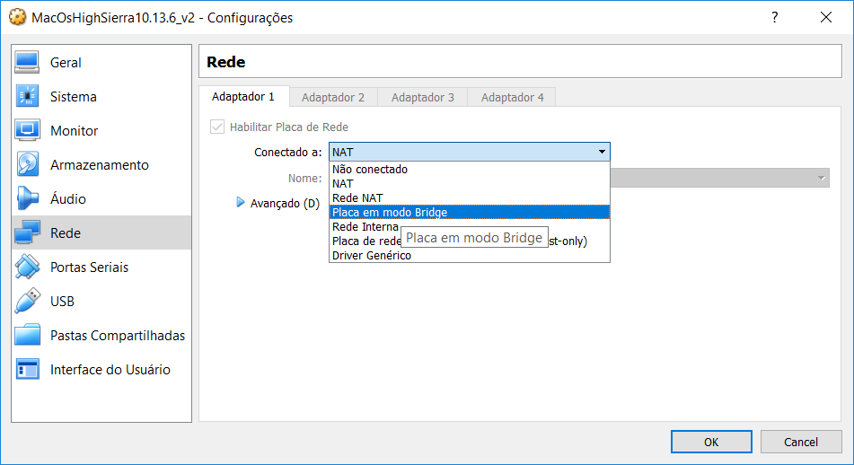 Configurar rede VirtualBox