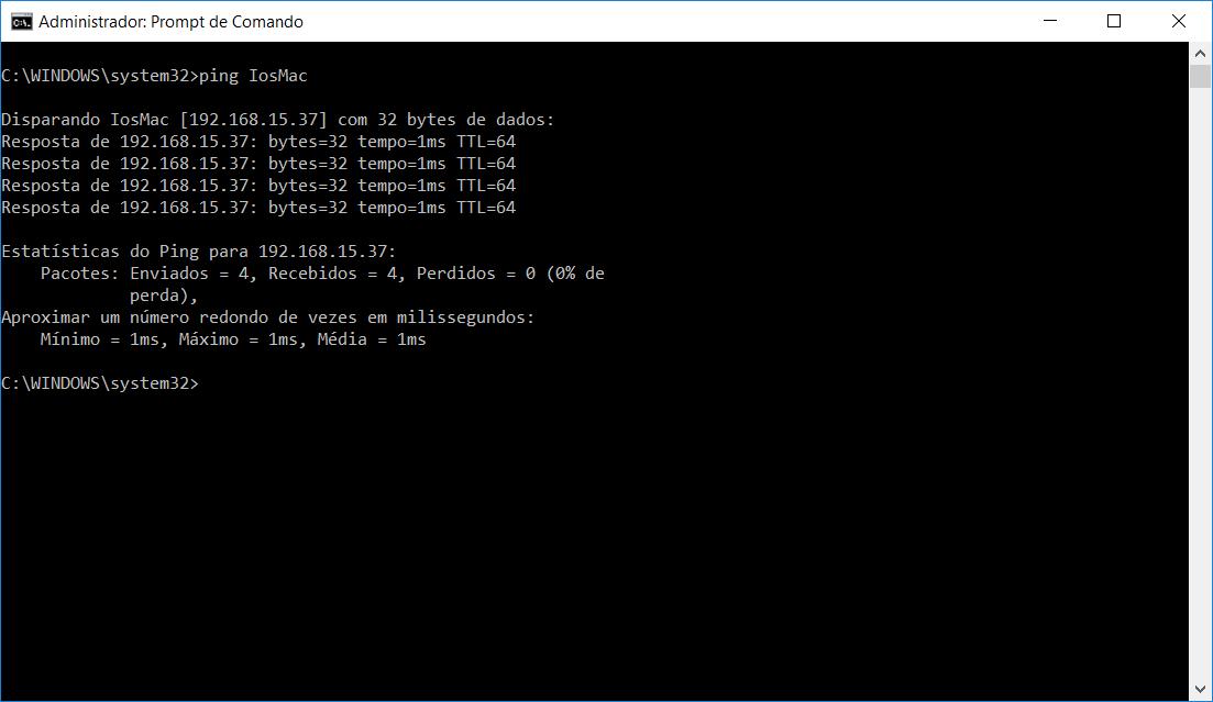 Acesso ao MAC via rede via DOS